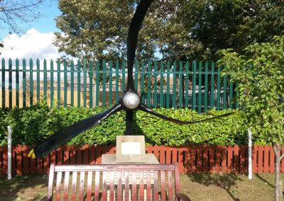 AVKOTE LE used for old Halifax bomber propeller in Pollington Airfield Memorial Garden